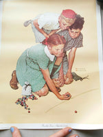 Lot of 4 unframed Norman Rockwell Pictures