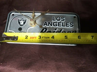 RARE NFL License Plate Clock - Los Angeles Raiders - No Numbers on the Clock