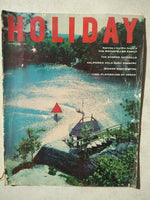 1958 AUGUST HOLIDAY MAGAZINE - ROCKEFELLER - BEAUTIFUL FRONT COVER - F 3304