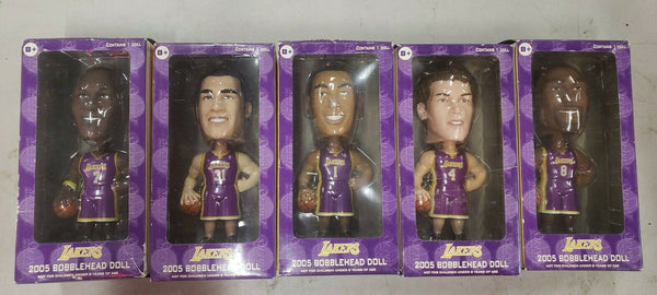 2005 Upper Deck - Carl's Jr. - Lakers Bobblehead Dolls Complete Collection