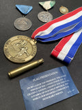 Vintage Custom Lot Of Four Medals & Memorial Rifle Squad 20 Year Service Award