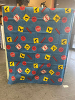 Vtg 80s Cannon Hazard Signs Edition Bed Framing Covers STOP! DO NOT ENTER! Etc..