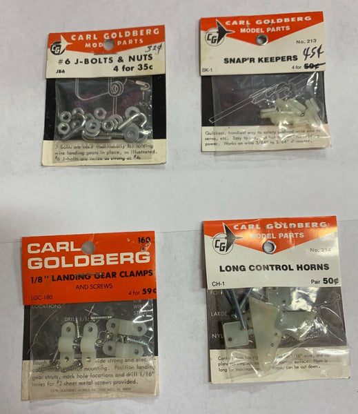 Carl Goldberg Model Parts Lot of 4 Unopened Sealed Parts