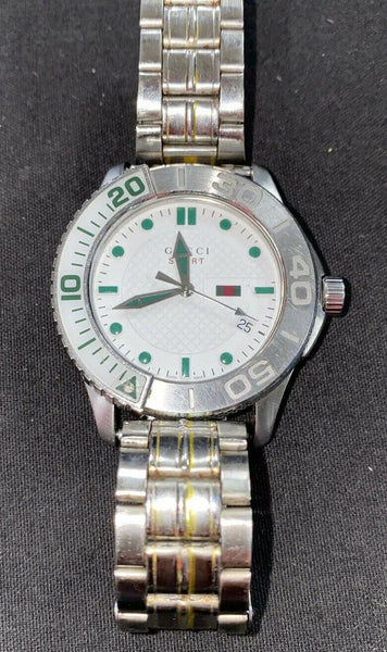 Gucci  G Timeless Sports 126.2  Nylon Quartz Men's White Dial