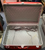 Amelia Earhart Vintage Travel Luggage Hard Suitcase Red 26x19x8