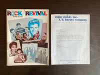 Vtg The Rock Revival Song Book by Vogue Music Hollywood W Promo Letter