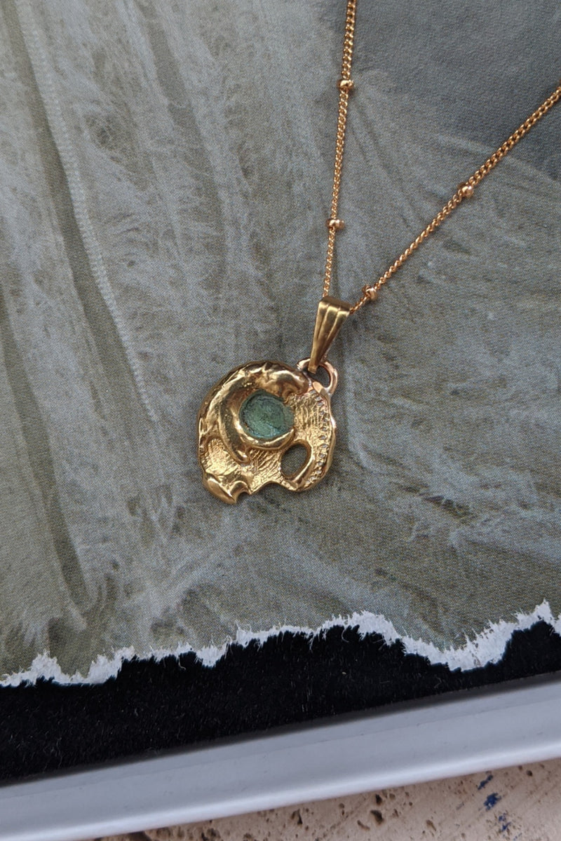 The Moon of Iris Pendant 18K Gold Plated