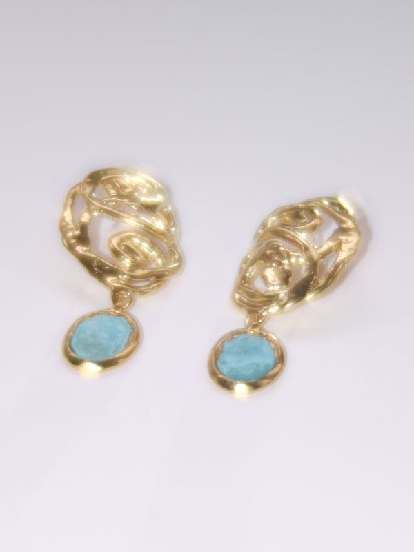 The Labyrinth Earrings in Blue or Green