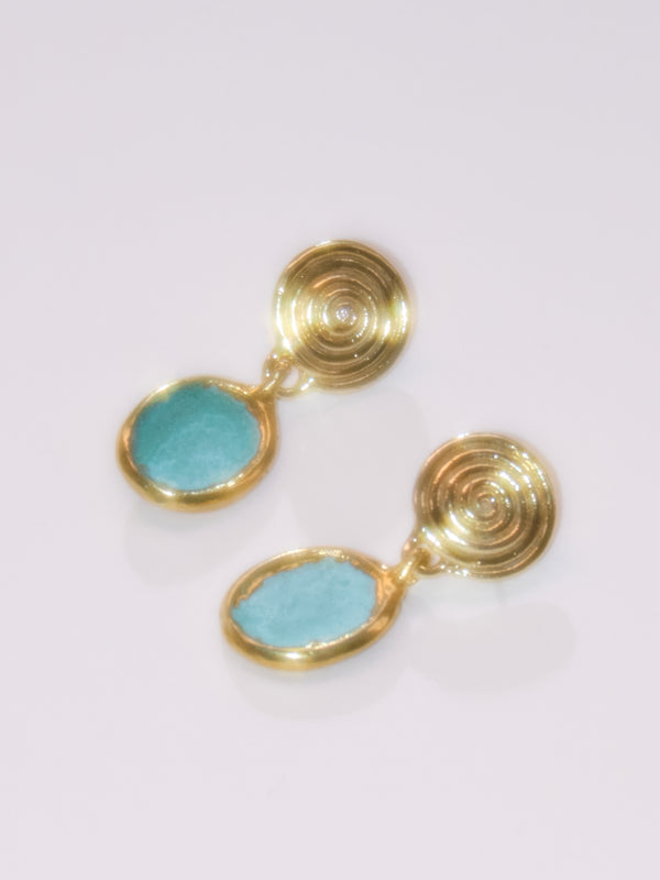 The Calder Earrings in Blue or Green