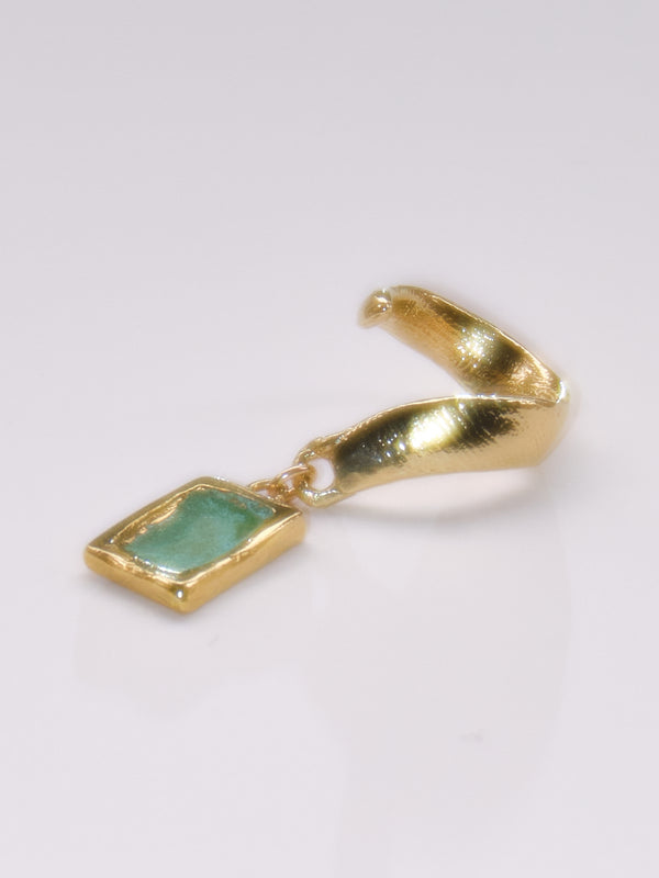The Powdered Gem Cuff in Blue or Green