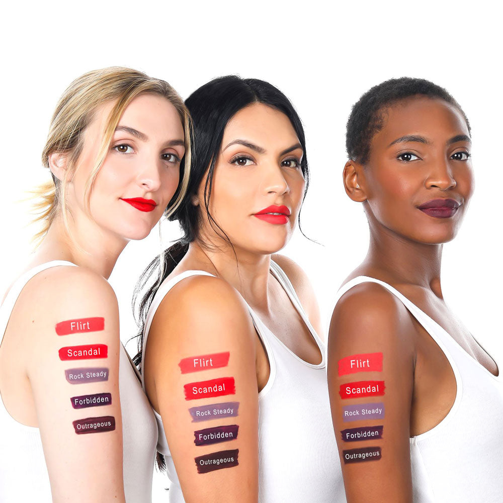 Load image into Gallery viewer, Women Matte Liquid Lip Swatches