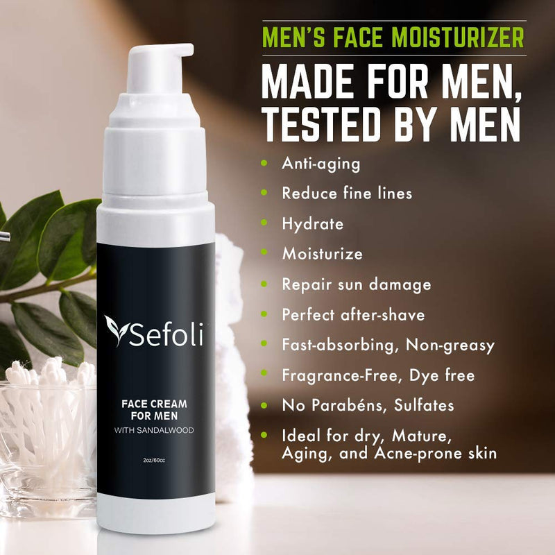 Best Men's Face Moisturizer by Sefoli