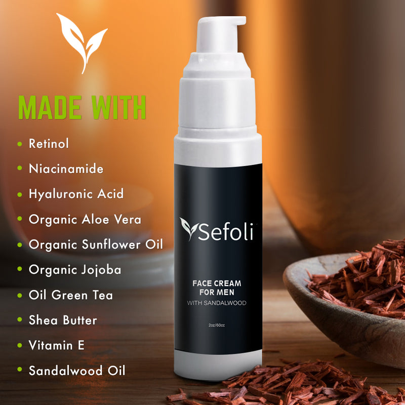 Face Moisturizer for Men by Sefoli