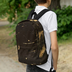 Backpack Black Golden Original Design Abstract