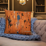 Color Pillow Orange Abstract