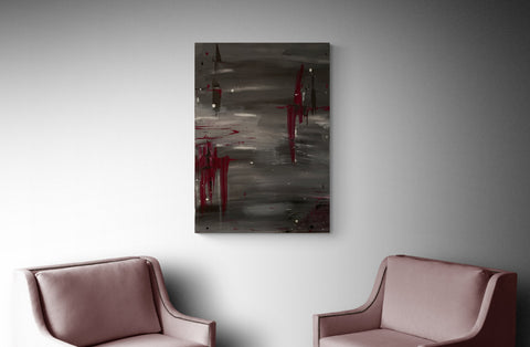 United - 2 cm acrylic canvas - Handmade Original Abstract Painting