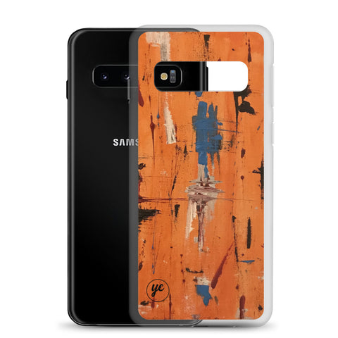 Samsung Case Orange Abstract