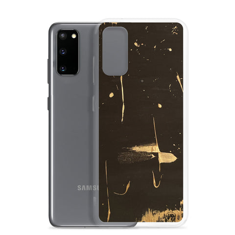 Samsung Case Black Golden Abstract