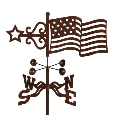 Flag Weathervane Roof Mount