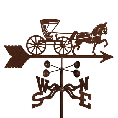Doctor's Horse & Buggy Weathervane Roof Mount