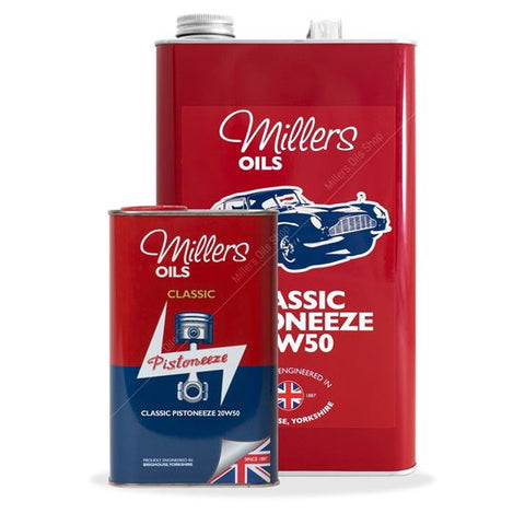 Classic Pistoneeze 20w50 25 liter verpakking - Berry Smink British Car Parts