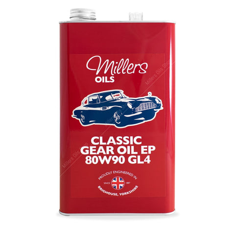 Classic Gear Oil EP 80w90 GL4 25 liter verpakking - Berry Smink British Car Parts
