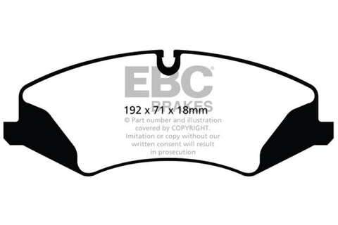 EBC 14+ Land Rover LR4 3.0 Supercharged Ultimax2 Front Brake Pads - SMINKpower.eu