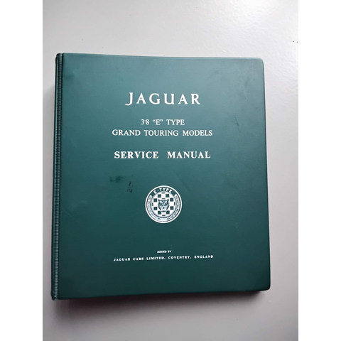 Jaguar 3.8 E type service manual