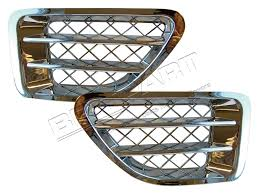 Range Rover Sport Air Intake Grille Pair Chrome - Berry Smink British Car Parts