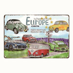 British car metal tin signs. - Berry Smink British Car Parts