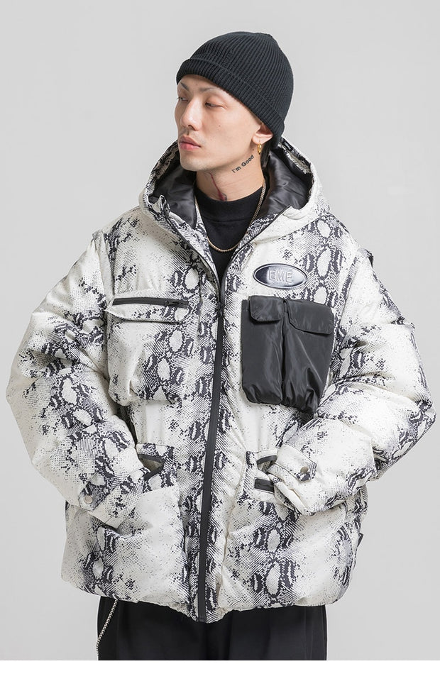 Snakeskin Puffer Jacket - Swaggy Societies