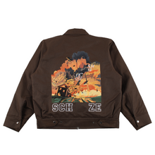 "Load image into Gallery viewer, ""burning house"" workwear jacket brown"