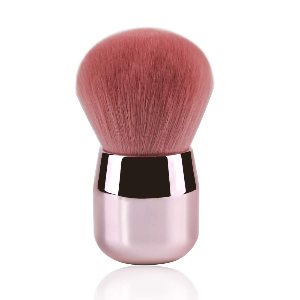 Pink Powder Brush Flat Arched Premium Durable Kabuki Makeup Brush
