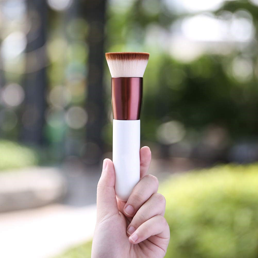 Flat top Kabuki foundation brush, liquid mix mineral powder makeup tool