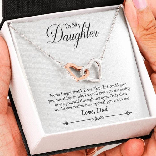to my daughter necklace from dad