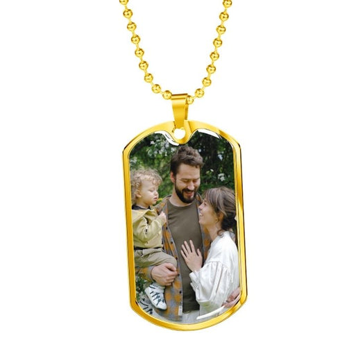 customized dog tag necklace with picture