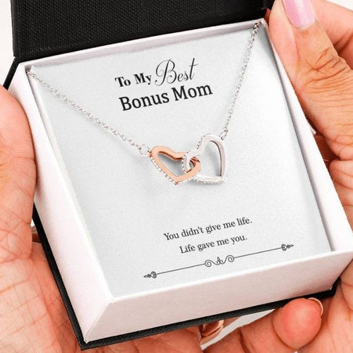 to my best bonus mom necklace
