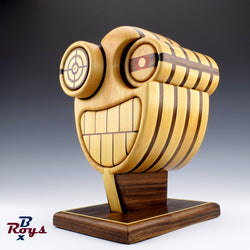 Cyborg Box by roysbox. Play with the eyes to change the look, several possible configurations! Jewlry box, home decor, one of a kind gifts, fine woodworking.