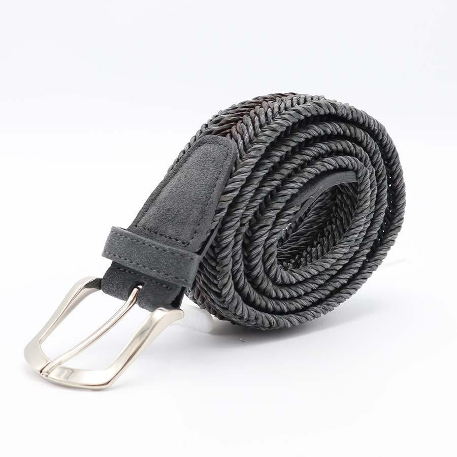 Andrea D'Amico - Gray Coloured Braided Belt - Witteveen Menstore