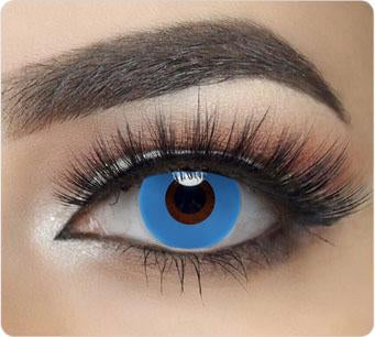 Solid Blue Contact Lenses