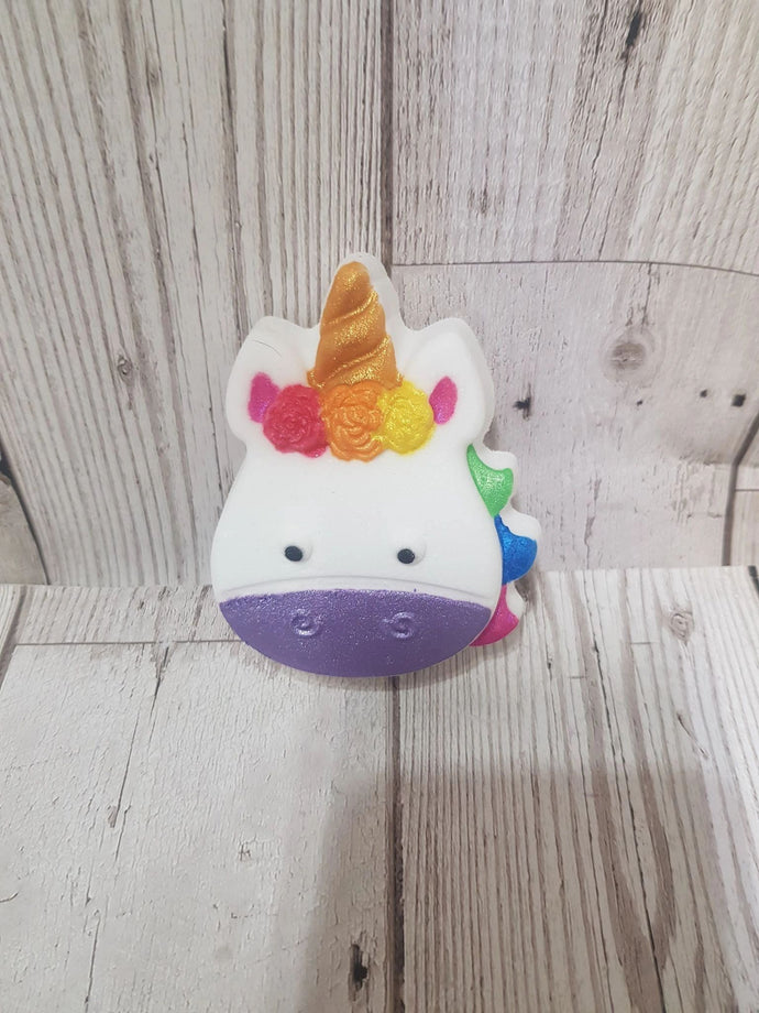rainbow unicorn bath bomb