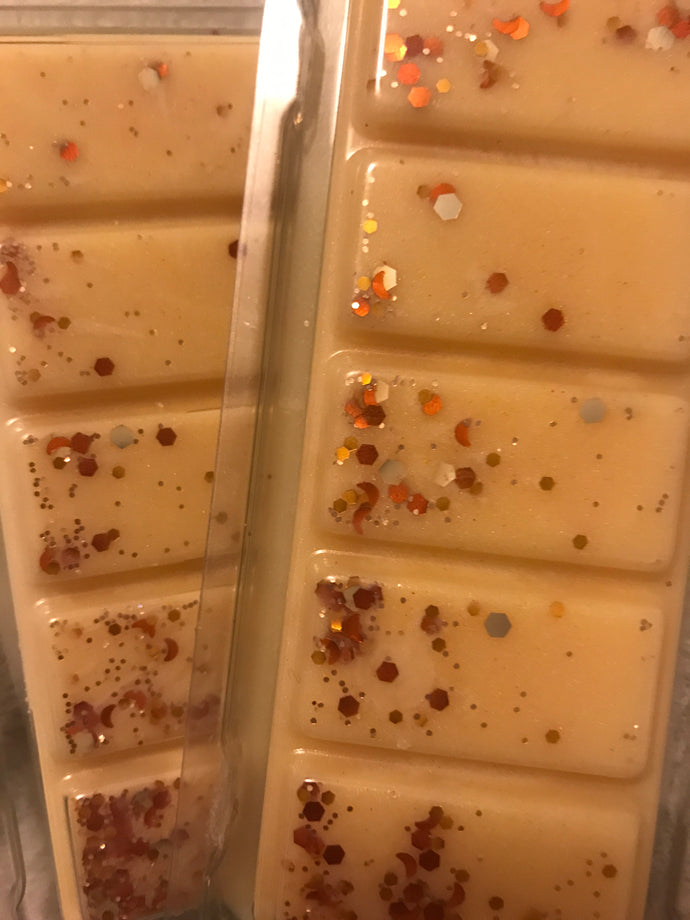 pumpkin caramel swirl wax snap bars