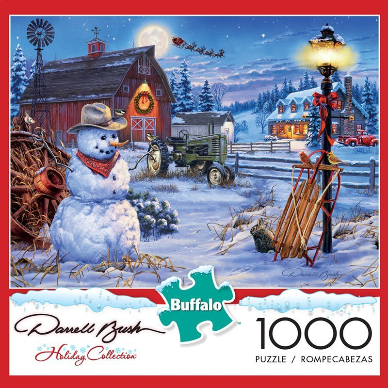 Country Christmas 1000 Piece Puzzle