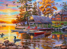 Load image into Gallery viewer, Canoe Camp 1000 Piece Puzzle