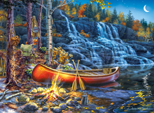 Load image into Gallery viewer, Waterfall Night 1000 Piece Puzzle