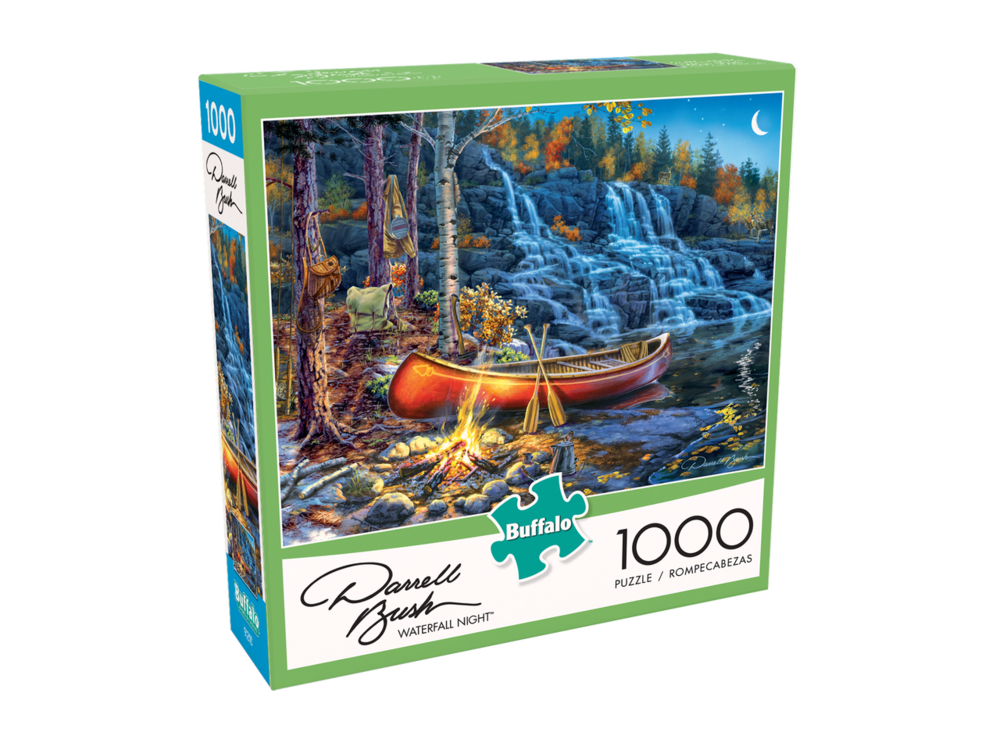 Waterfall Night 1000 Piece Puzzle