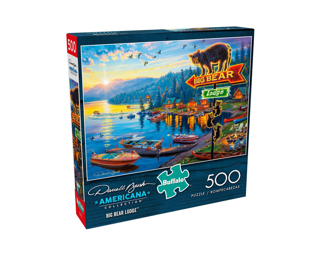 Big Bear Lodge 500 Piece Puzzle