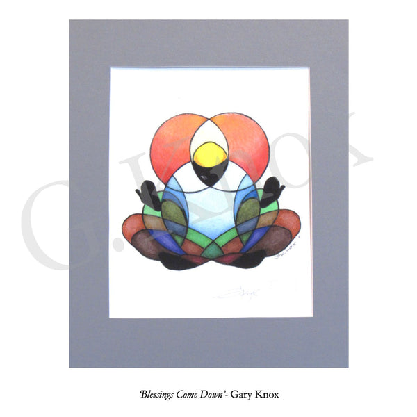 "Giclee Print ""Blessings Come Down"" by Gary Knox, Matted"