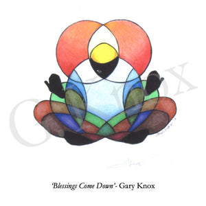 "Giclee Print ""Blessings Come Down"" by Gary Knox, Unmatted"