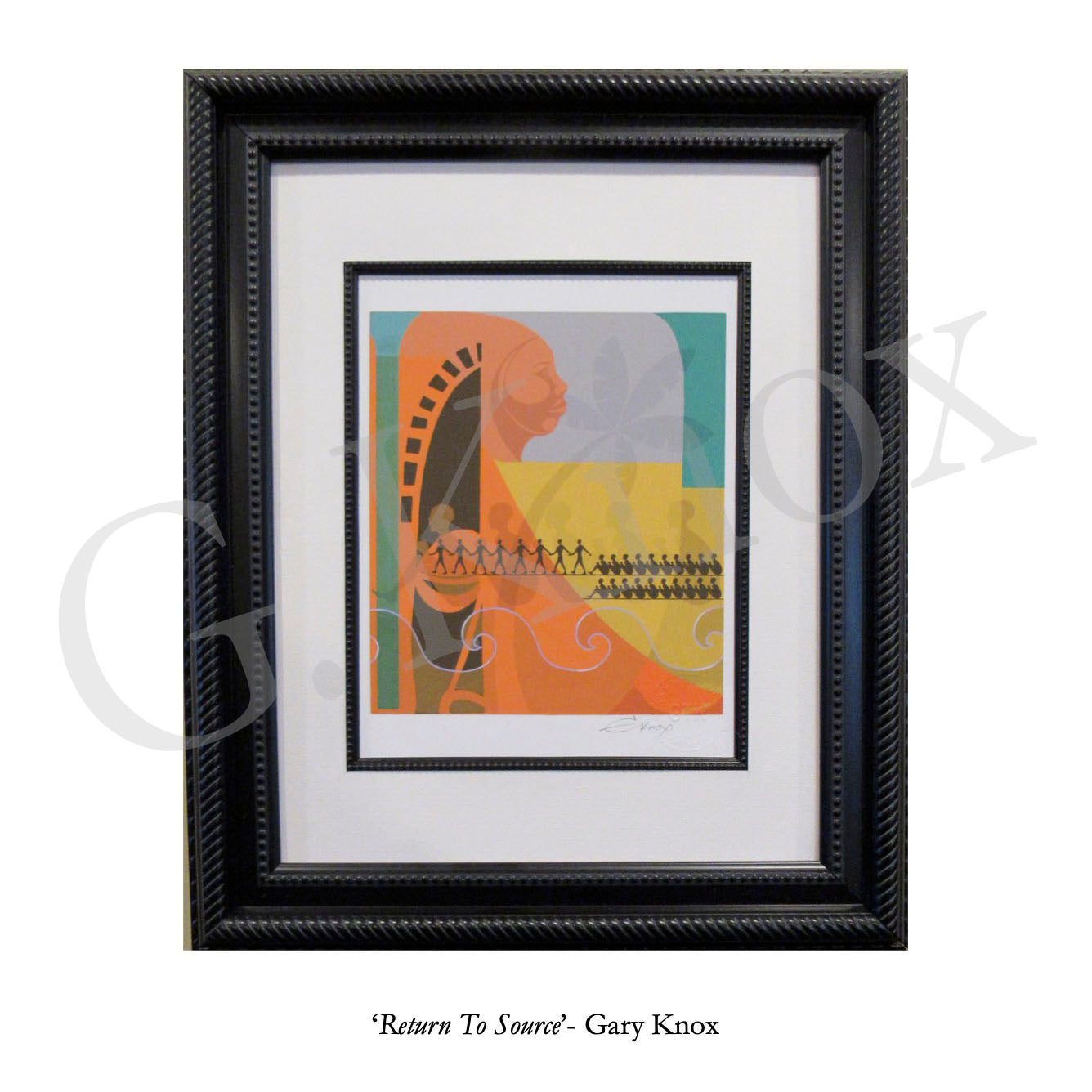 "Giclee Print ""Return To Source"" by Gary Knox, Matted & Framed"